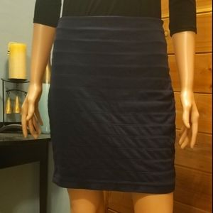 Express Bandaged Fitted Mini Pencil Skirt